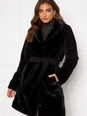 Dry Lake Zig Zag Faux Fur Coat