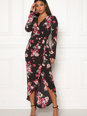 Girl In Mind Indie Wrap Floral Dress