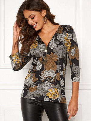 Happy Holly Marion top Black / Floral