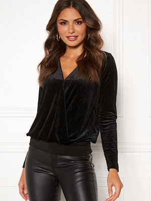 Happy Holly Angela velvet top Black