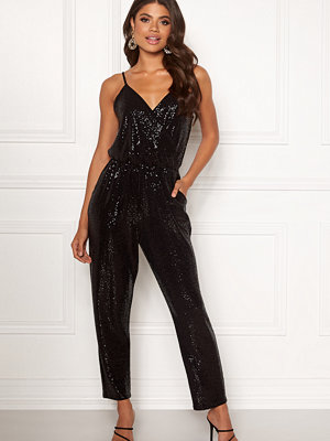 John Zack Strappy Sequin Jumpsuit