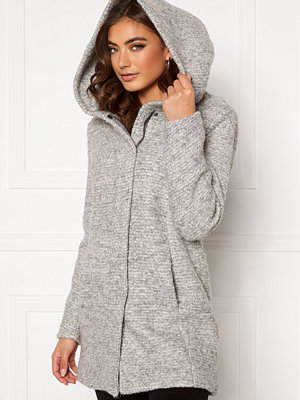 Only Sedona Boucle Wool Coat Light Grey Melange