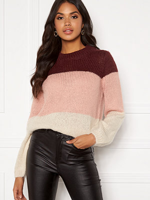 Vero Moda Wine Block ls O-neck Knit