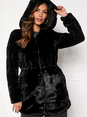 Only Chris Fur Hooded Coat