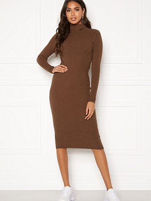 Blue Vanilla Rib Knit Midi Dress