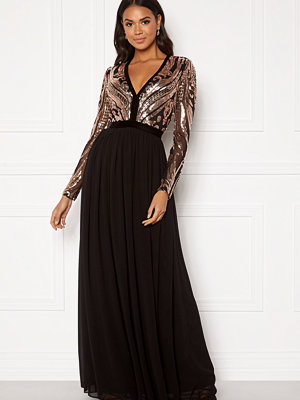 Goddiva Deep V Sequin Maxi Dress