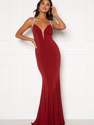 Moments New York Irina Sparkle Gown Wine-red