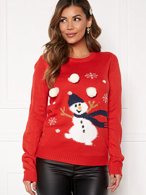 Vila Snowman L/S Knit Top