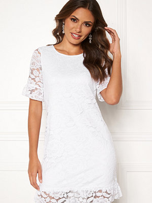 Happy Holly Julianne flounce lace dress White