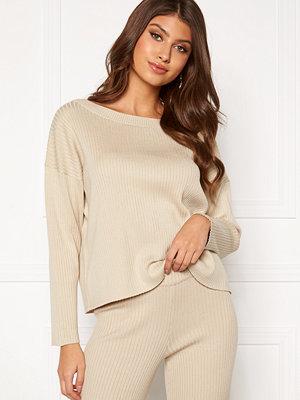 Bubbleroom Marah knitted sweater Light beige