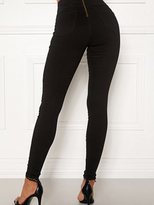 Happy Holly svarta byxor Lyra zip pants Black