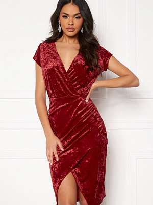 Ivyrevel Front Wrap Velvet Dress