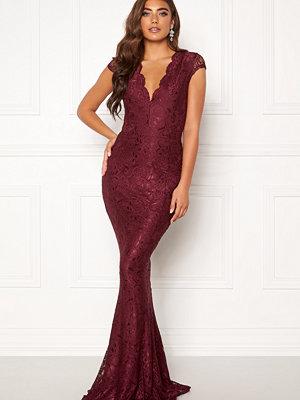 Bubbleroom Valencia lace dress Wine-red