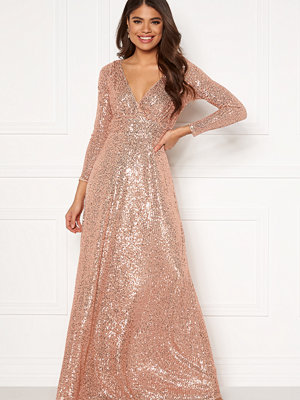 Goddiva Long Sleeve Seqiun Dress