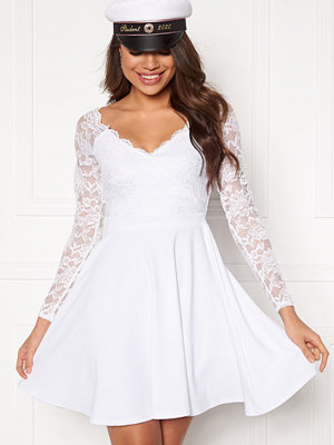 Goddiva Long Sleeve Skater Dress