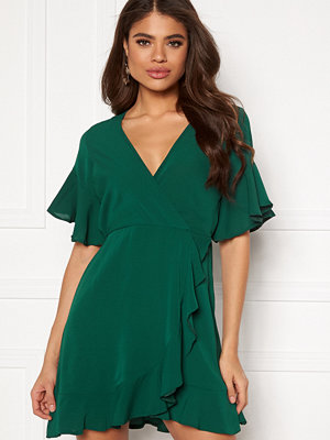 Ax Paris Frill Sleeve Wrap Dress