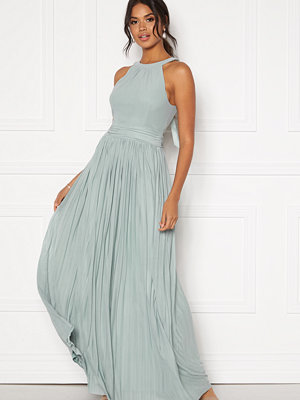 Moments New York Linnea Pleated Gown Jade-green