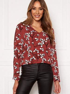 Happy Holly Adele blouse Cinnamon / Patterned