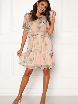 Happy Holly Teodora occasion dress Dusty pink / Patterned