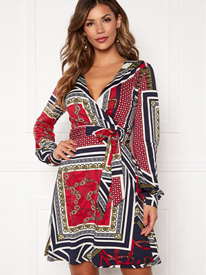 Chiara Forthi Claudina wrap shirt dress Dark blue / Red / Patterned