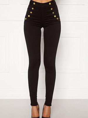 Bubbleroom Adina highwaist jeans Black