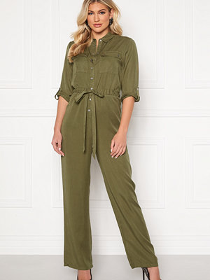 Object Jana 3/4 Jumpsuit Burnt Olive