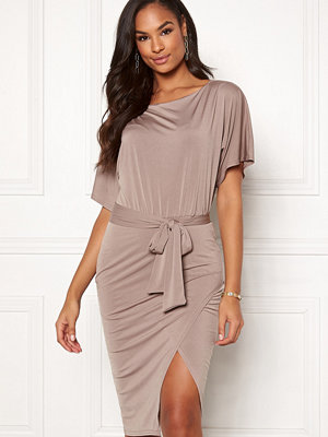 John Zack Slash Neck Kimono Dress