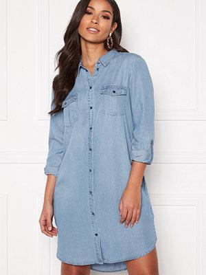 Vero Moda Silla LS Short Dress Light Blue Denim