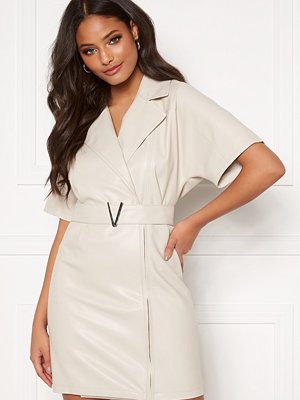 Ivyrevel Belted PU Dress