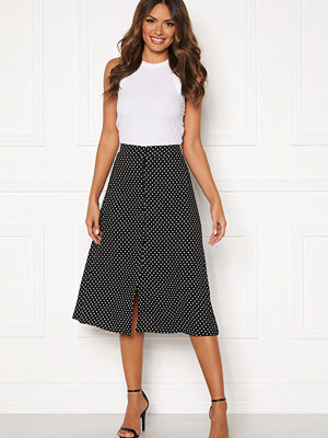 Happy Holly Frida button skirt Black / Dotted