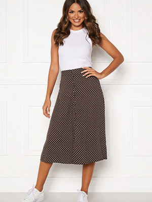 Happy Holly Frida button skirt Brown / Dotted
