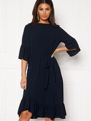 John Zack Frill Sleeve Midi Dress