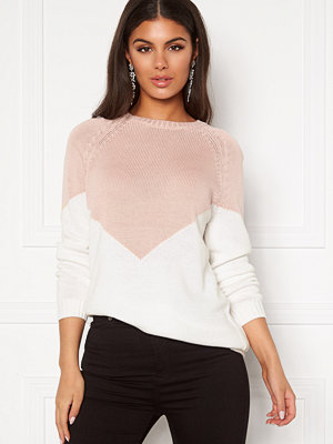 Tröjor - Only Sara L/S Block Pullover