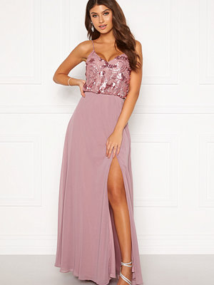 Moments New York Elouise Sequin gown Dusty green