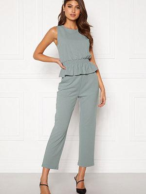 Bubbleroom grå byxor Bell trousers