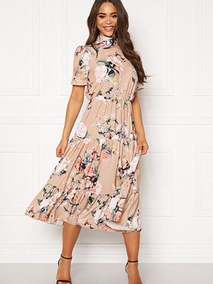 John Zack Short Sleeve Tiered Dress