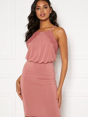 Bubbleroom Cardi dress Dark heather pink