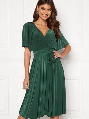 Goddiva Flutter Sleeve Midi Dress