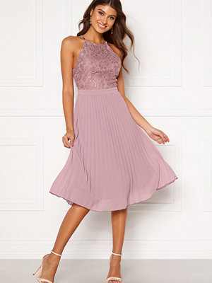 Moments New York Casia Pleated Dress Old rose
