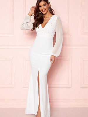 Chiara Forthi Felicienne pearl gown White
