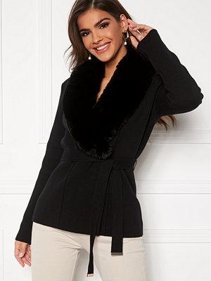 Chiara Forthi Arina heavy knit wrap jacket