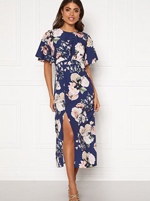 John Zack Flared Sleeve Maxi Dress