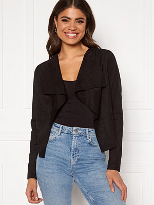 Only Stacy Drapy Faux Suede Jacket Black