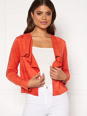 Kavajer & kostymer - Only Stacy Drapy Faux Suede Jacket
