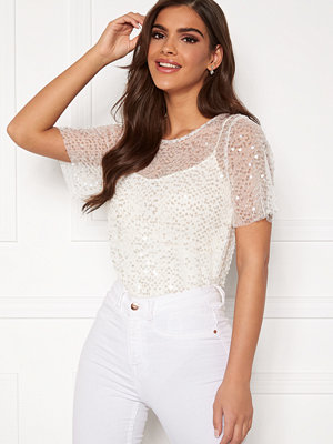 Chiara Forthi Chrystal sequined top