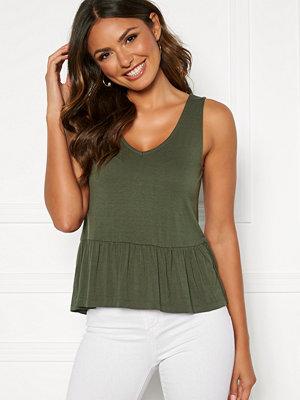 Happy Holly Harper frill singlet Khaki green