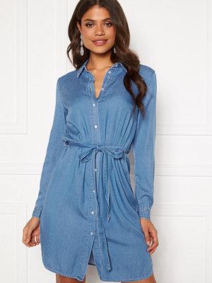 Vila Bista Denim Belt Dress Medium Blue Denim