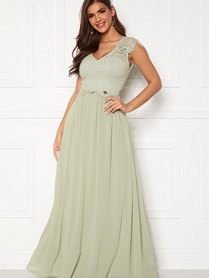 Chiara Forthi Amante lace Gown Light green