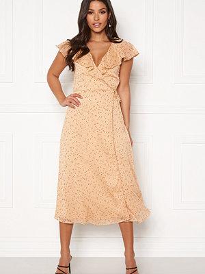 Bubbleroom Liw wrap dress Beige / Brown / Dotted