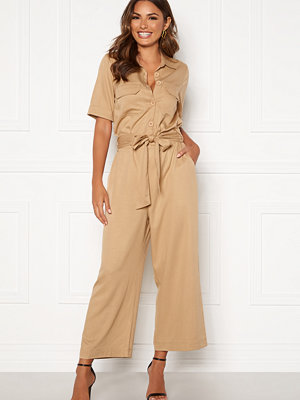 Jumpsuits & playsuits - Happy Holly Sarah utility jumpsuit Khaki beige